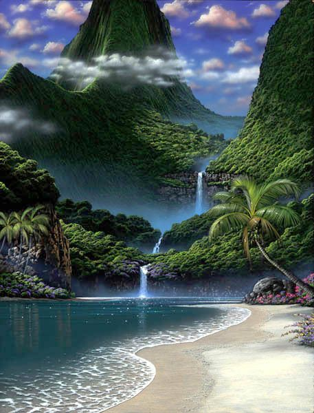 Waterfall Beach...I'd love to be there right now!:
