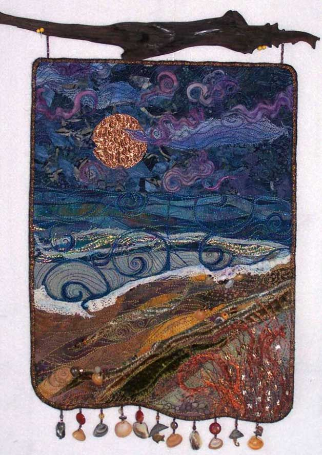 Fiber Art Quilts-Beachscape
