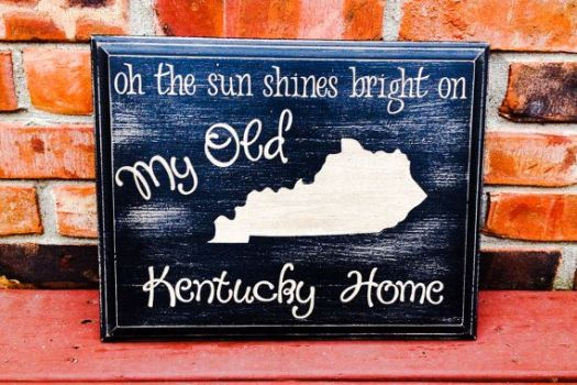 My Old Kentucky Home Painting On Wood State Custom