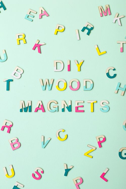 DIY Paint Dipped Wood Magnets | like-the-cheese.com: