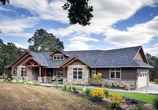 Plan 69582AM. Looks great and at 2,910 sq. ft., wont blow away your budget!