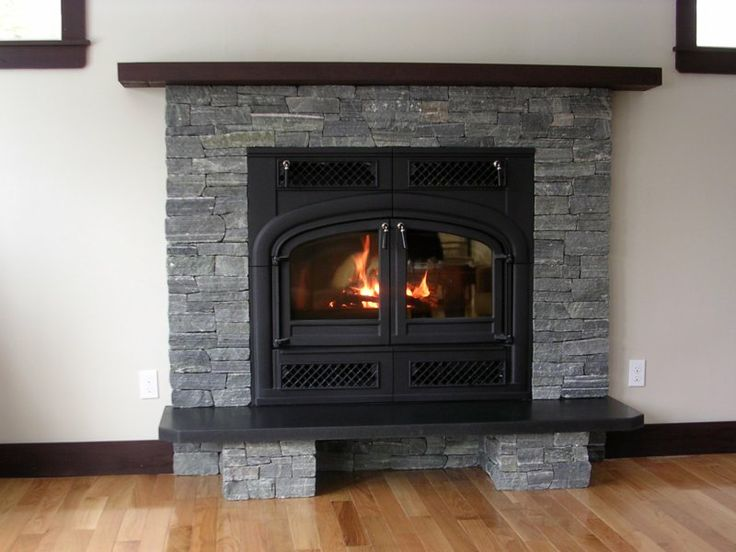 Stone Fireplace With Cover Color Black All About Home