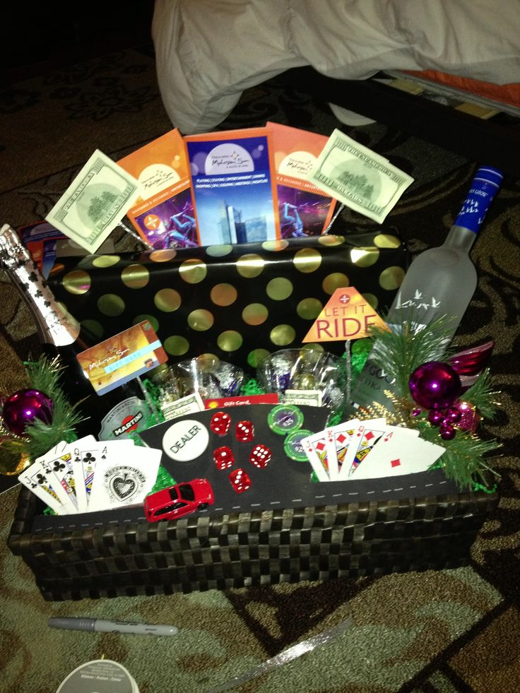 14 Best Images About Casino Gift Basket On Pinterest