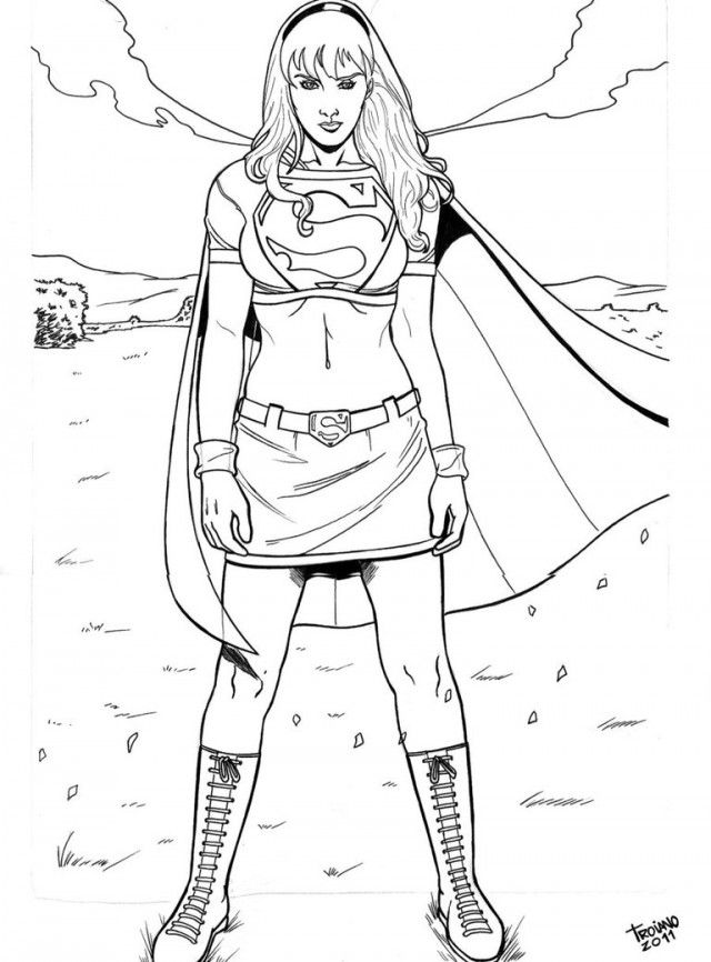 supergirl coloring and coloring pages on pinterest