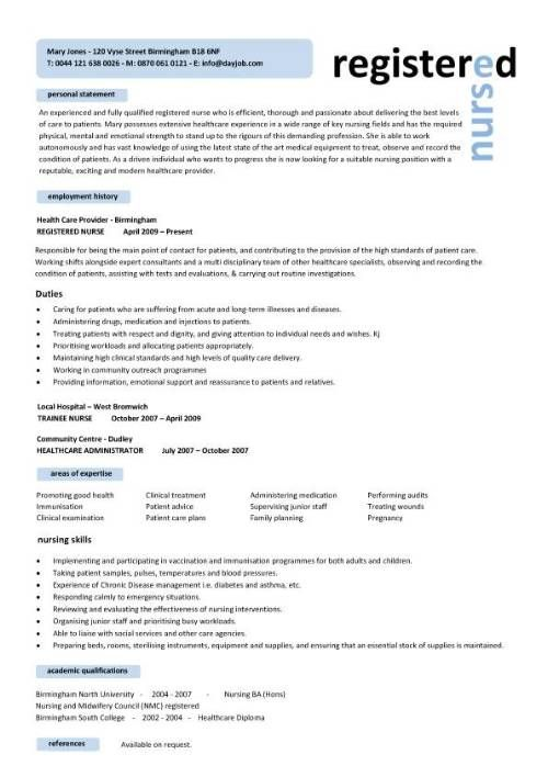 1000 ideas about nursing resume on pinterest registered nurse