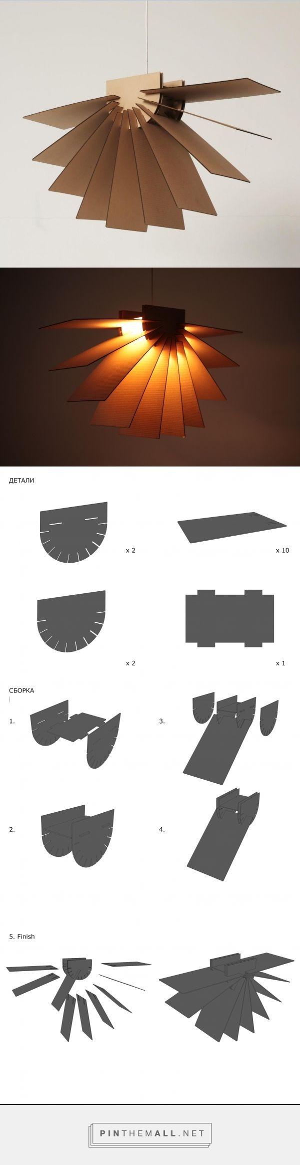 Cardboard lamp designed by Angelina Polousova | Made with lazer сarver machine | curator Arseniy Serg