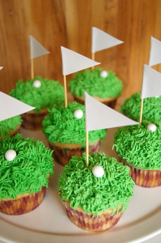 Just A Sliver Father S Day Golf Cupcakes Fathersday