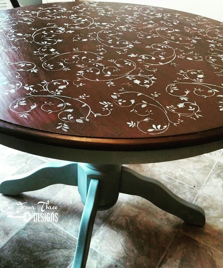 Vinegar And Steel Wool With Tea Stained Table Top For The Home