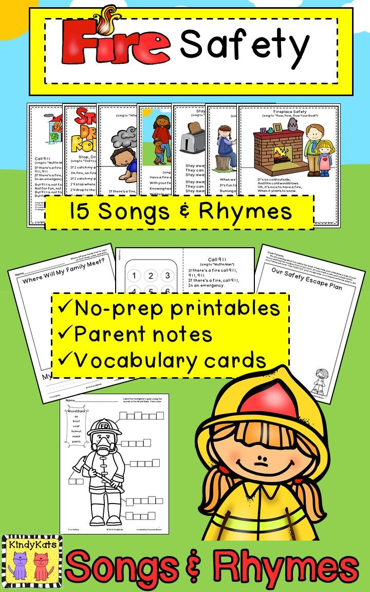Fire Safety, Fire Prevention, Firefighters, 911, Songs