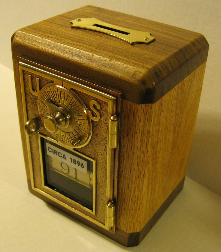 Bank\/Safe Made From Antique Post Office Box Door CIRCA