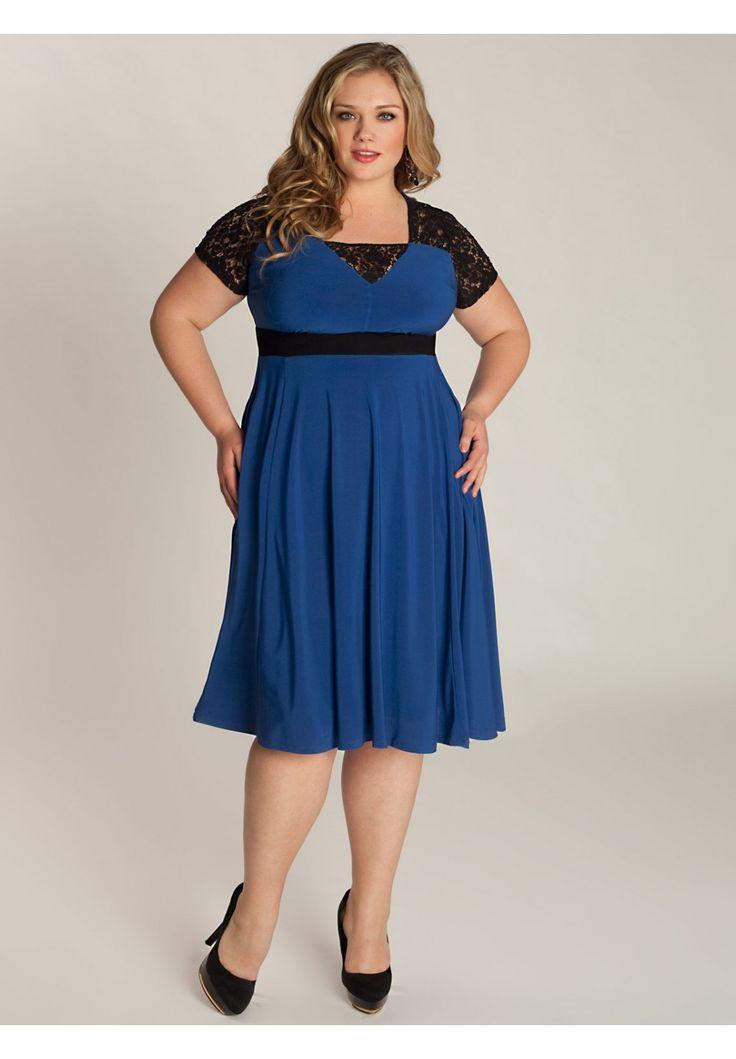 Chantelle Dress in Moroccan Blue | Fat Girl Fashion ...