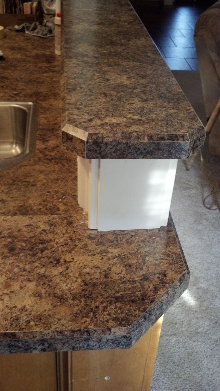 Bevel Edge Laminate Countertop Trim In Formica 7734 Jamocha Granite Laminate Countertop Trim