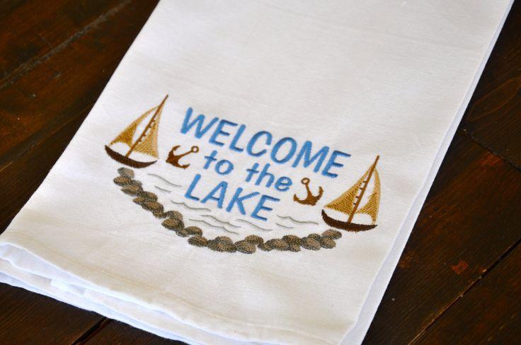 Embroidered Dish Towel Kitchen Towel Bath Towel Hand
