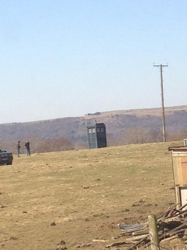 The Tenth Doctors TARDIS has been spotted on set of the 50th anniversary.