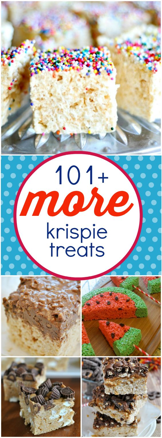 101+ MORE Rice Krispie Treats – if you love krispy treats, here are recipes for every occasion!
