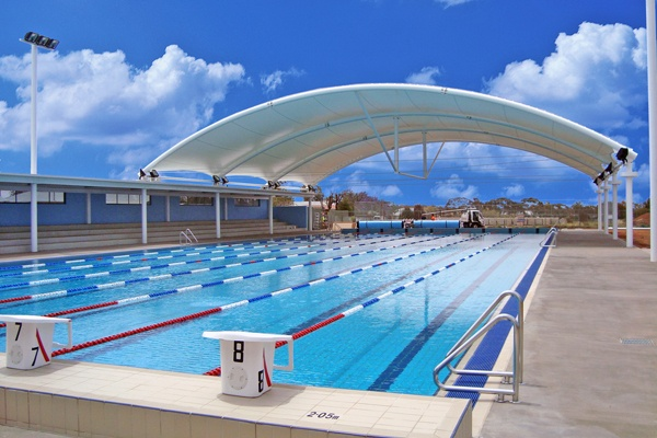 Barrel Vault Structure Clear Span Council Pool Shade