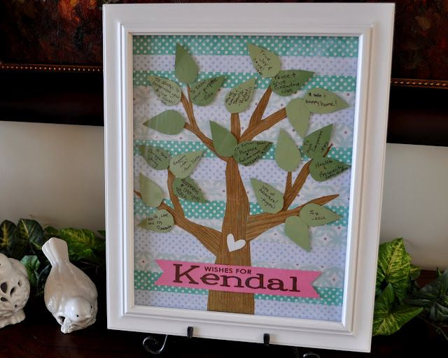 Instead Of Guestbook At Baby Shower Make A Tree And Let The Guests Put Wishes On The Leaves