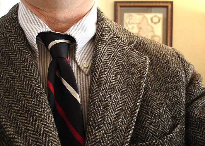 Vintage J Press 32 Herringbone Harris Tweed Jacket