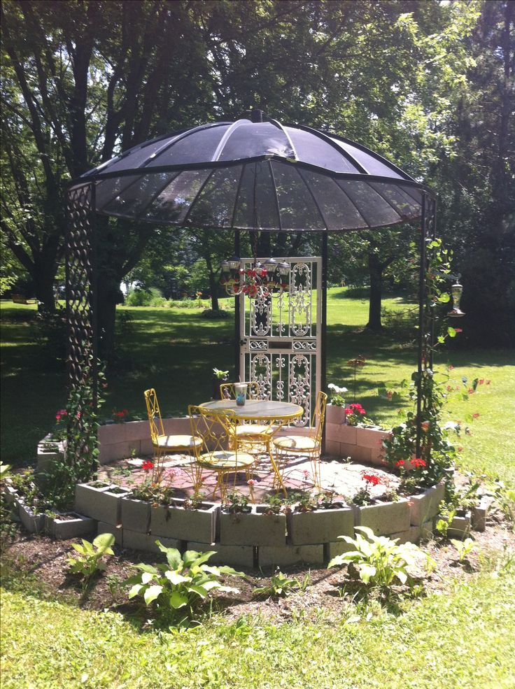 My Gazebo Made From A Old Satellite Dish My Spaces And