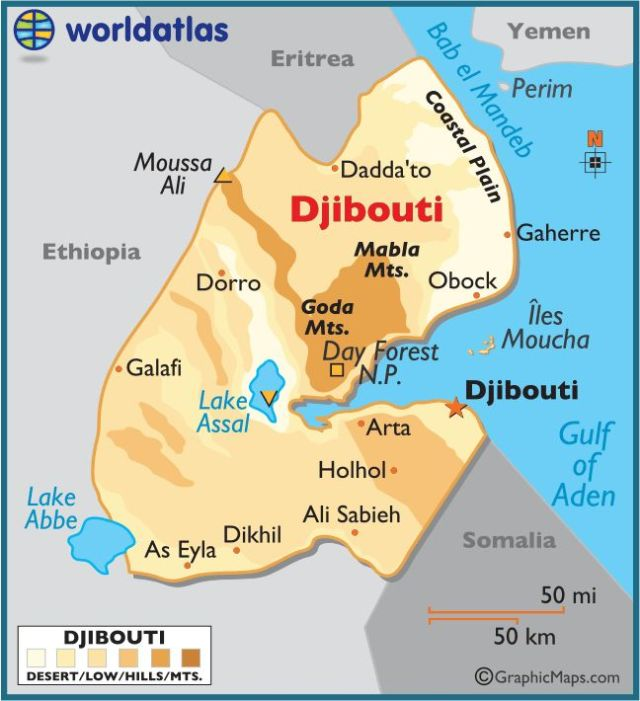 Image result for Djibouti Ethiopia border map