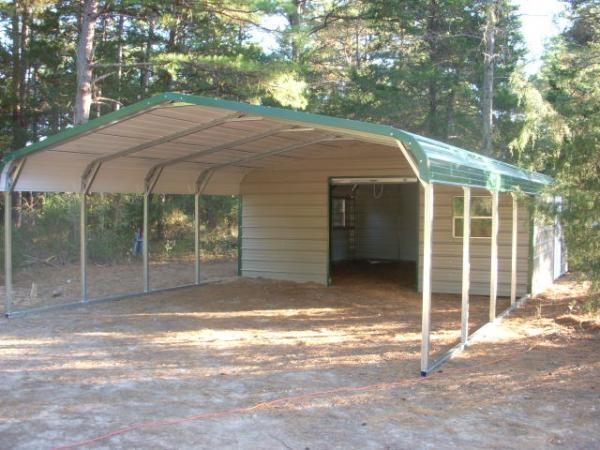 Regular style end storage carport combo Pool ideas