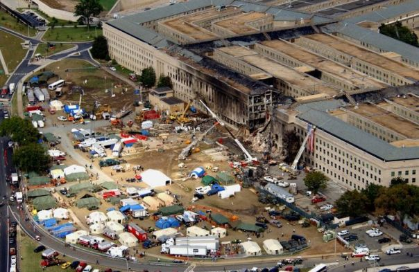 pentagon 9/11 | View of the Pentagon after the September 11, 2001 terrorist attacks: