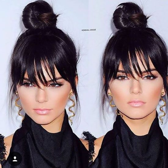 25 Hairstyles To Slim Down Round Faces Fake Bangs And