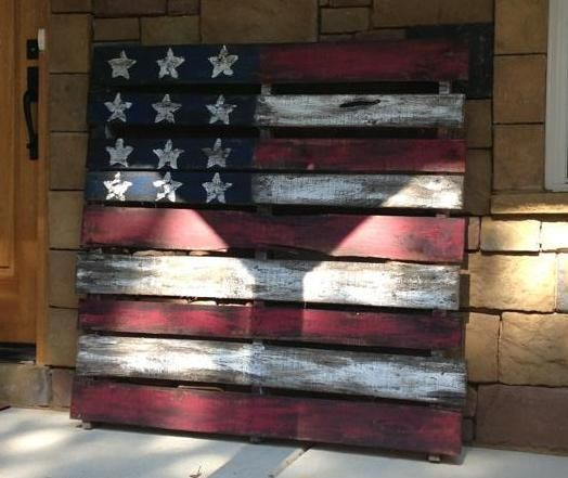 Flag Made Out Of A Pallet My Cousin Made This Super