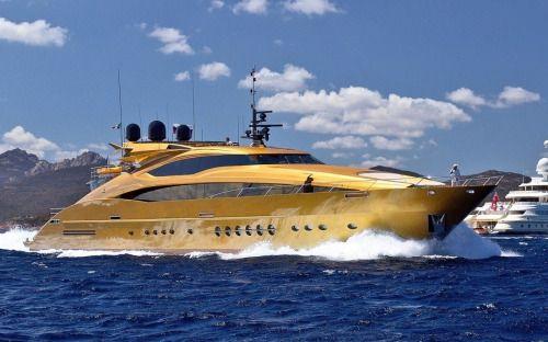 Gold Palmer Johnson PJ 150 Yacht Luxury Toys Pinterest