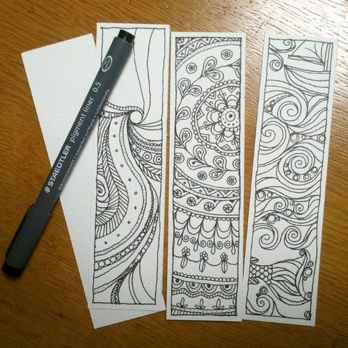 Doodle Mandala Zentangle Bookmarks By Hollymayb Book