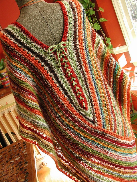 poncho – LOVE the back