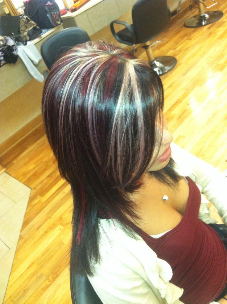 Pink Purple Blonde Highlighted Hair Haiirbymare Hair