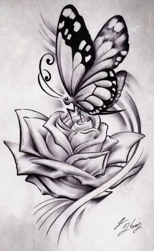 25 best ideas about rose and butterfly tattoo on pinterest flower and butterfly tattoos