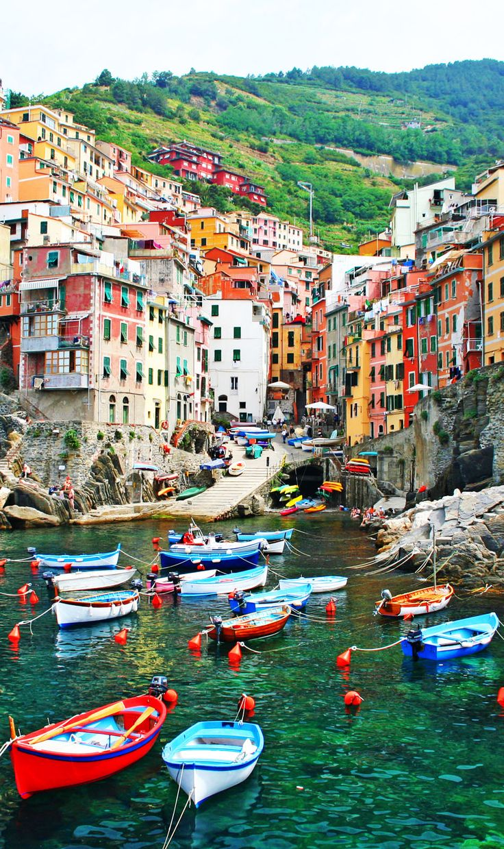 Italian seaside village of Riomaggiore in the Cinque Terre | Amazing Photography Of Cities and Famous Land