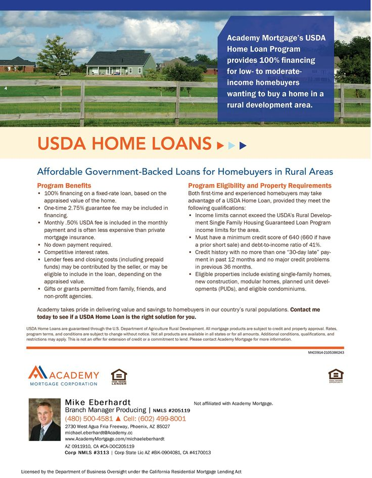USDA Home Loans Loan Program Flyers Pinterest Home