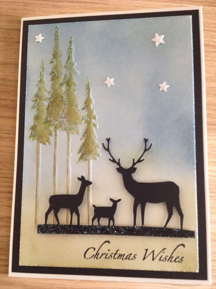 Deer Trio By Memory Box Embossed Folder By Tim Holtz