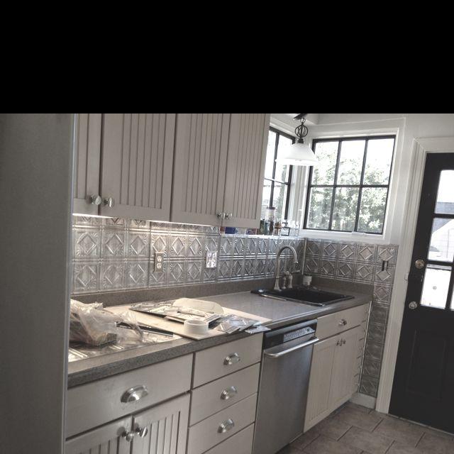 Tin Backsplash Done Fasade Panels House And Home