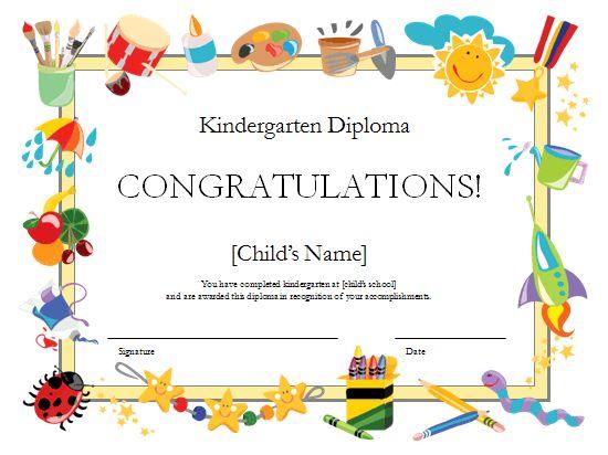 Kindergarten Diploma Certificate Templates Classroom Management Amp Organisation