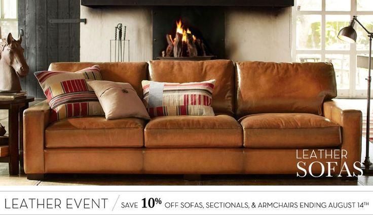 Leather Sofa Sets & Tufted Leather Sofas