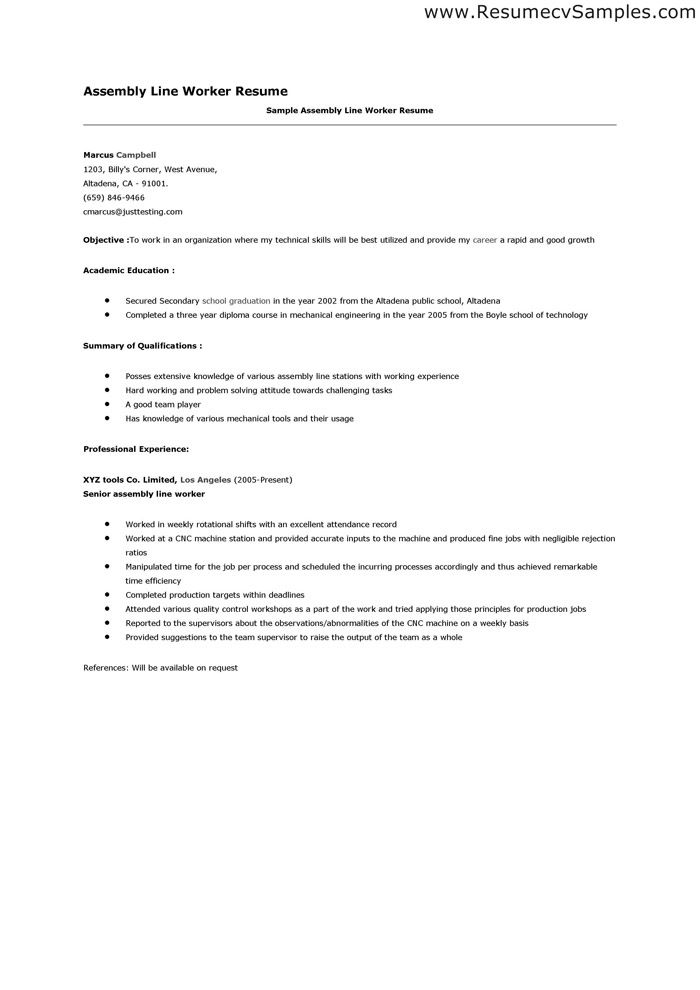 Production Line Worker Resume | Publications How To Determine If A Topic Warrants A Research Paper