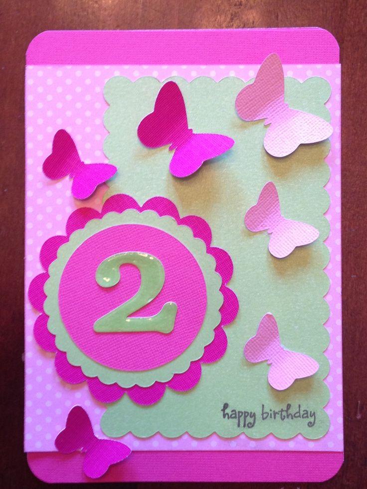 Little girls 2nd birthday card I made. Baby Girl