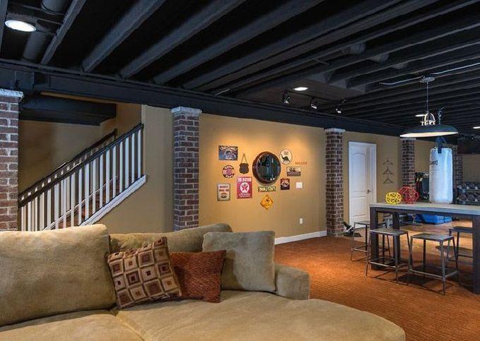 25+ Best Ideas About Basement Ceiling Painted On Pinterest