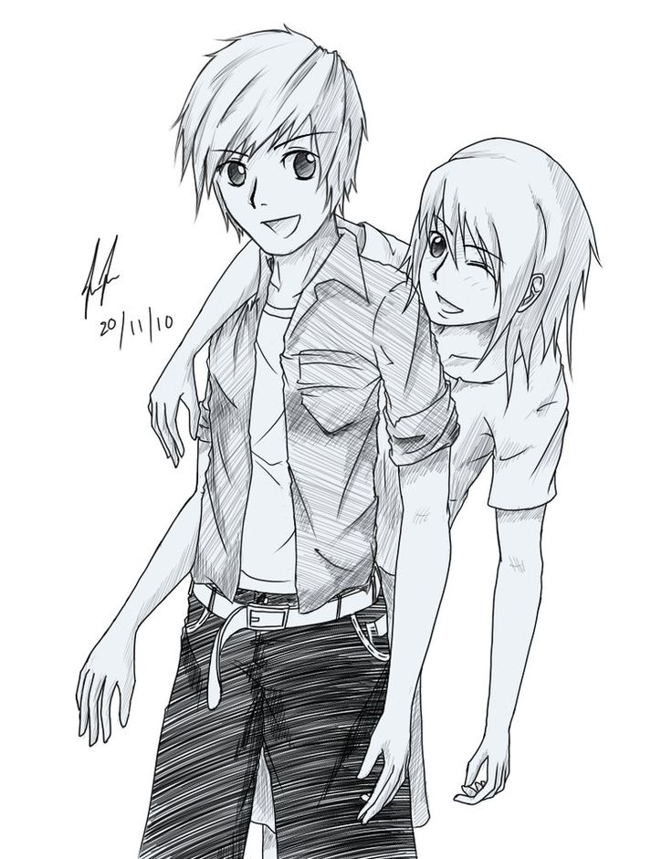 pencil drawing boy and girl best friends Google Search