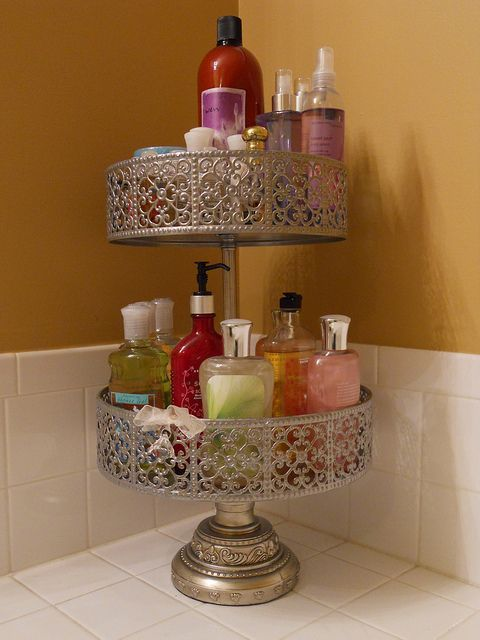 Use cake stands or tiered p