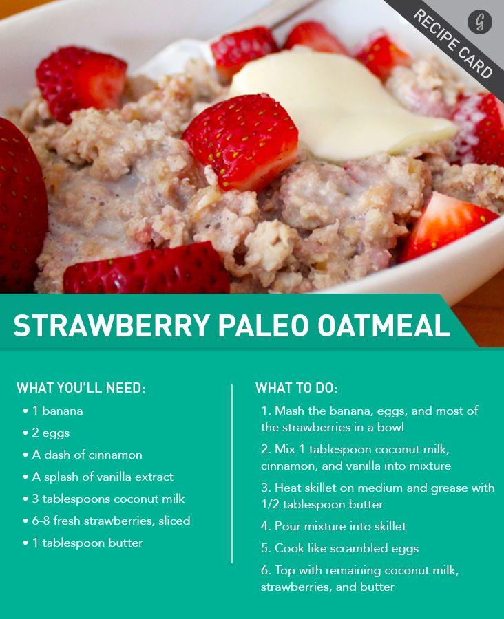 perfect, I eat oatmeal at least 5 days a week…. Recipe: Strawberries and Cream Paleo Oatmeal