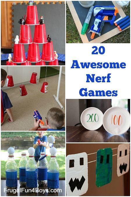 20 of the best Nerf games to make and play – love the party ideas, and all the homemade targets!