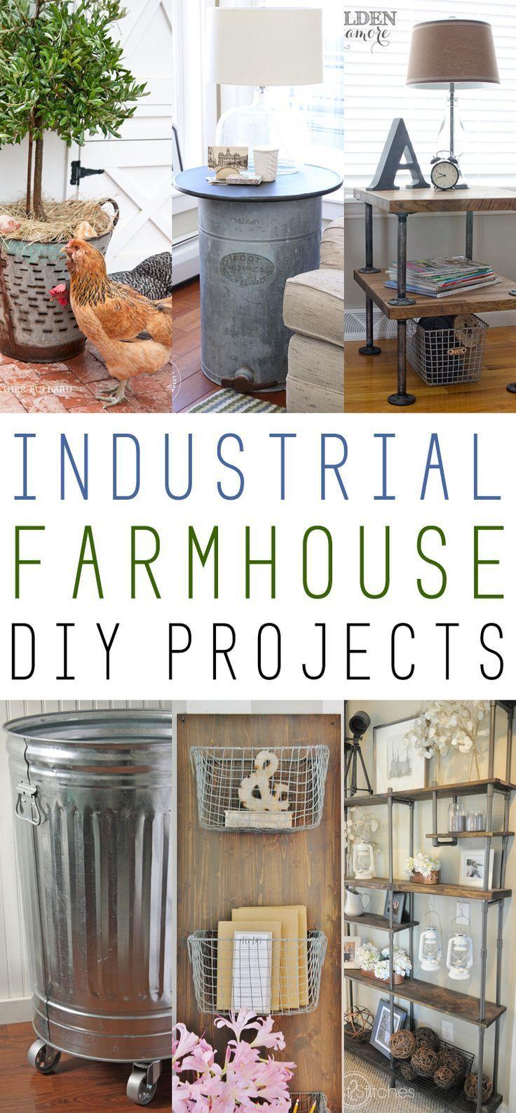 Farmhouse Fridays /// Industrial Farmhouse DIY Projects