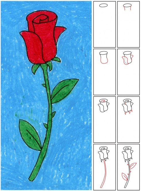 Jak narysować różę art Pinterest Girls, Rose crafts