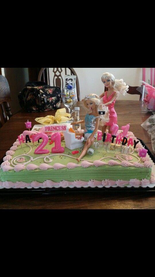 Drunk Barbie Cake Jaime S 21st Birthday Cake Pink