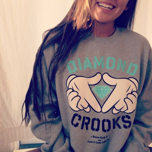 diamond crooks crewneck c: diamond supply co. i aam determinded to get it this weekend  @TheOfficialKingDimoe
